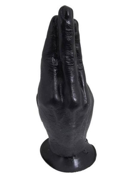 Hand: Dildo 21cm, schwarz