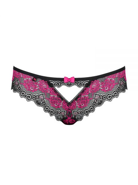 Obsessive Tulia: Panty, schwarz/pink