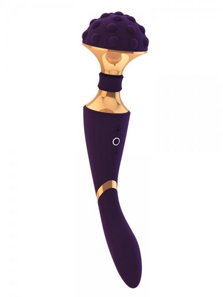Vive Shiatsu: Wand-/G-Punkt-Vibrator, violett/gold