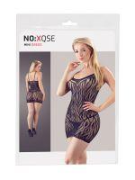 Streifen-Minikleid, schwarz