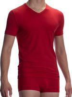 Olaf Benz RED2059: V-Neck-Shirt, rot