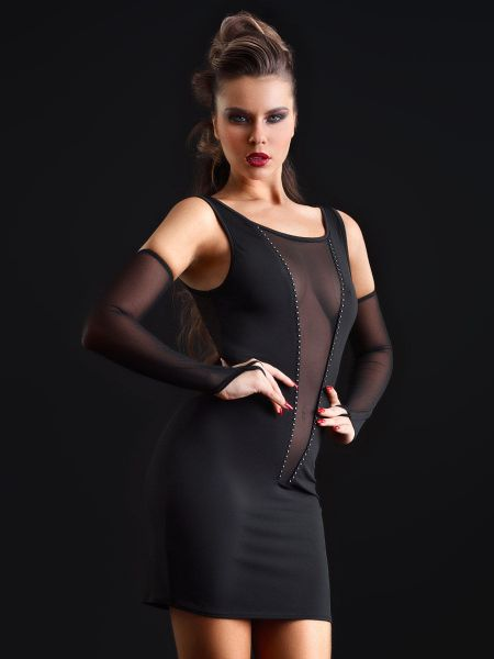 Patrice Catanzaro Ophelia: Minikleid, schwarz
