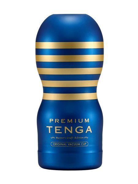 Tenga Premium Original Vacuum: Masturbator, blau/gold