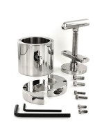 Black Label Stainless Steel The Ball Flask Crusher: Edelstahl-Hodenzwinge