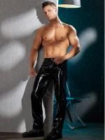 Lack-Hose, schwarz