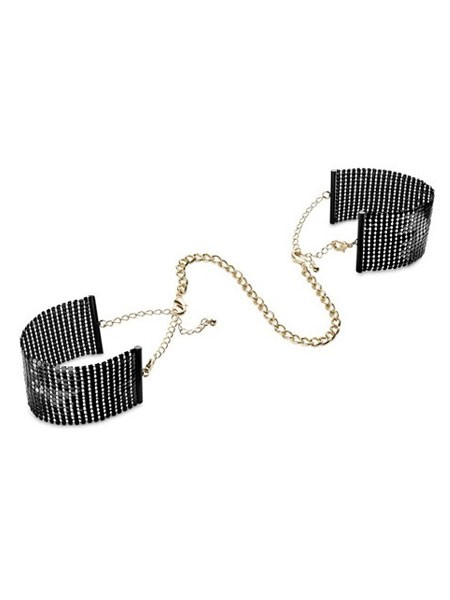 Bijoux Indiscrets Désir Métallique: Handfesseln, schwarz/gold