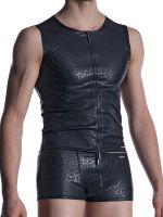 MANSTORE M2002: Zipped Vest, schwarz