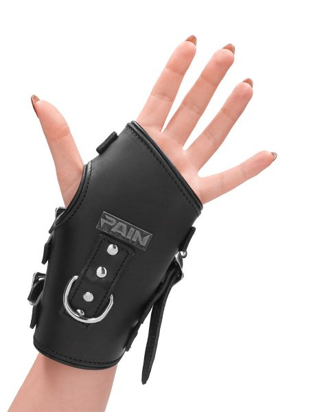 Ouch! Pain Suspension Cuffs: Leder-Handfesseln, schwarz