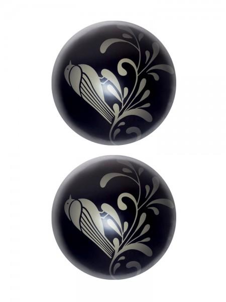 Fashionistas Glass Zen Wa Balls: Liebeskugeln, schwarz