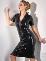 Latex-Kleid, schwarz