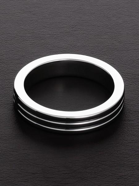 Triune Ribbed C-Ring: Edelstahl-Penisring