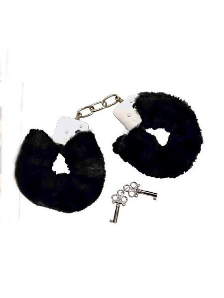 Bad Kitty Plüschhandschellen, schwarz