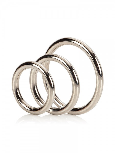 Silver Ring Set: Penisringe-Set, silber