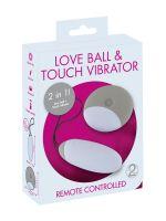 Love Ball & Touch Vibrator: Vibrobullet, weiß/grau