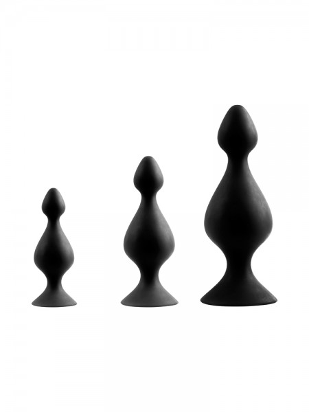 Back Up: Analplug-Set, schwarz