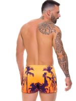 JOR Caribe: Bade-Minishort, orange/lila