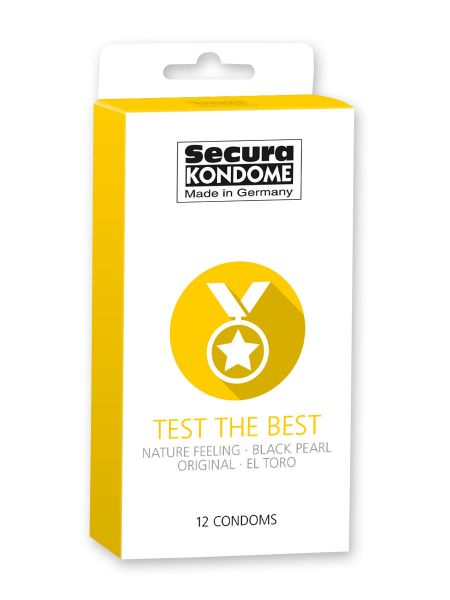 Secura Test the Best: Kondome, 12er Pack