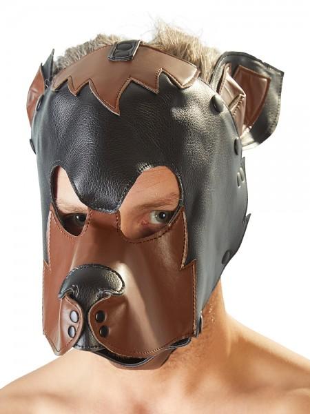 Hundemaske, schwarz/braun