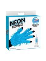 Neon Luv Glove: Massage-Handschuh, blau