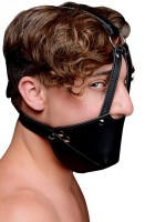Strict Mouth Harness with Ball Gag: Maulkorb mit Knebel, schwarz