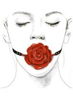 Zalo Rose Ball Gag: Mundknebel Rose, rot/schwarz