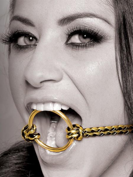 Fetish Fantasy Gold Open Mouth Gag: Ringknebel