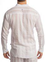L'Homme Benares: Loungeshirt, weiß