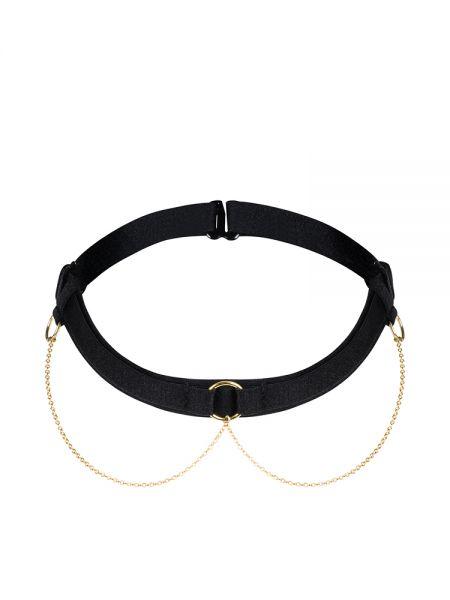 Petite Noir: Halsband mit Kettchen 2518, schwarz