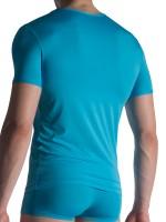 Olaf Benz RED1817: V-Neck-Shirt, azur