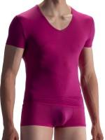 Olaf Benz RED0965: Phantom V-Neck-Shirt, berry