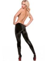 Allure: Lack-Leggings, schwarz