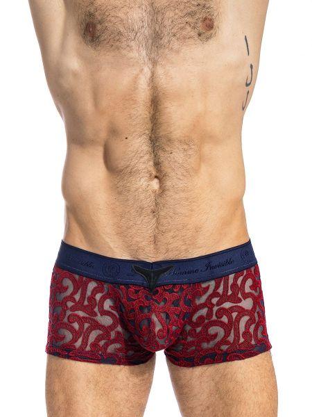 L'Homme Elio: Push-Up V-Boxer, marine/rot