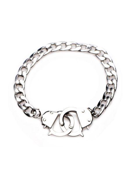 Master Series Cuff Him: Handschellen-Armband, silber