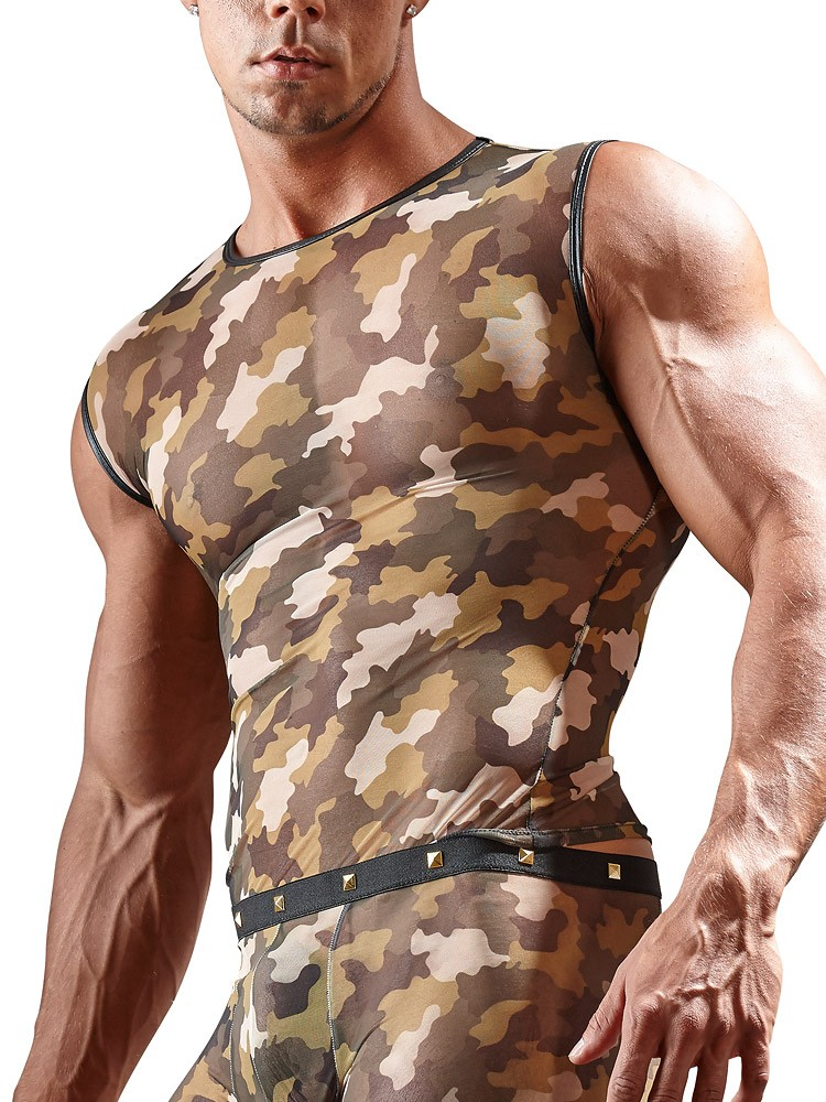 Svenjoyment Tanktop, camouflage