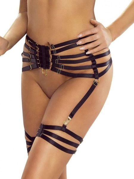 Provocative PR6095: Harness-Strapsgürtel, schwarz