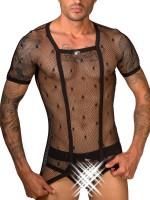Eros Veneziani Net: T-Shirt, schwarz