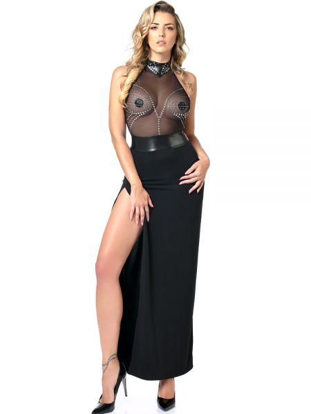 Patrice Catanzaro Isla: Abendkleid, schwarz