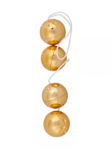 Orgasmuskugeln Gold, 4er-Set