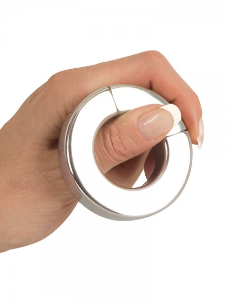 Sextreme Steel: Magnet-Penis-/Hodenring, metallic