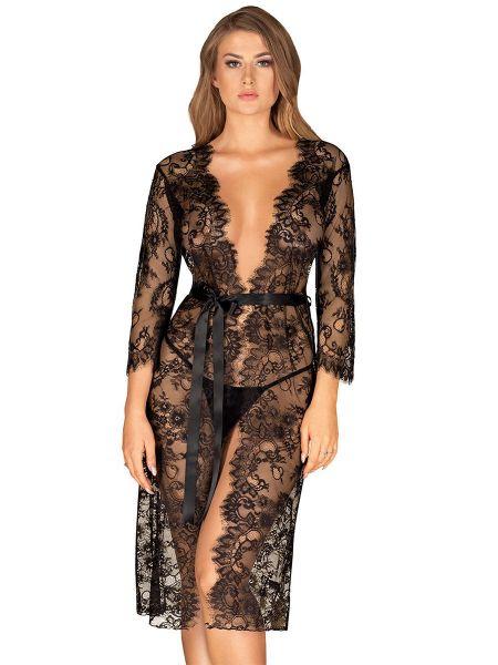Obsessive Lashy: Kimono, schwarz