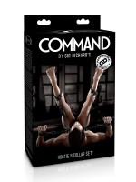 Sir Richards Command Hogtie & Collar Set: Fesselset, schwarz