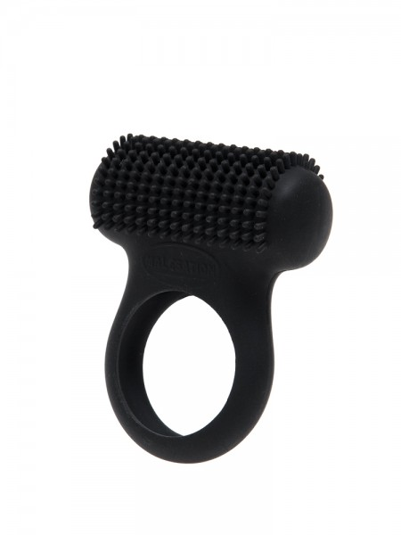 Malesation Tickle Ring: Vibro-Penisring, schwarz