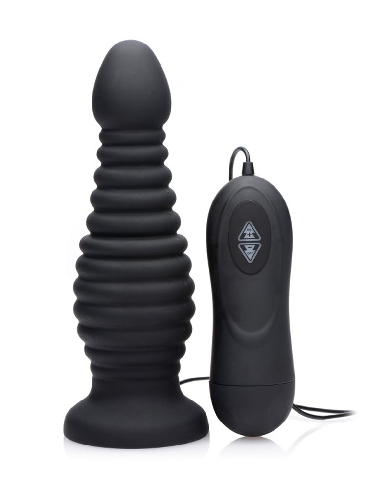 Master Series Auto-Thruster: Vibro-Analplug, schwarz