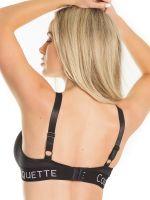 Coquette: Triangel-BH, schwarz
