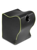 Liberator Top Dog Fleshlight Mount: Kunstleder-Liebeskissen mit Toy-Öffnung, schwarz