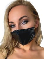 Noir Handmade: Maske Ziernaht, schwarz