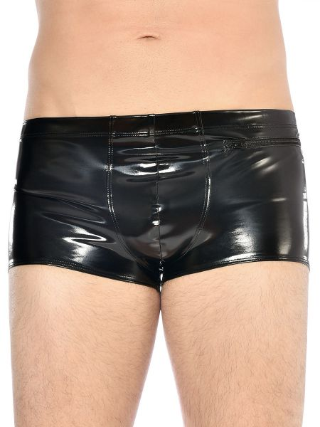 Patrice Catanzaro Ramsay: Lack-Pant, schwarz