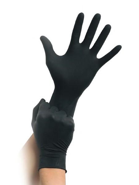 MaiMed Latex-Untersuchungshandschuhe 100er Pack, schwarz