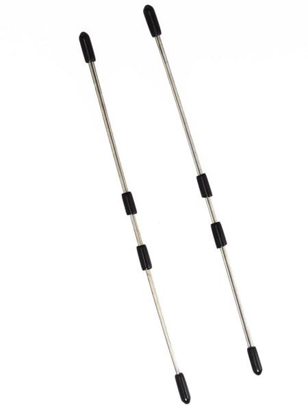 Metall-Nippelklemmen: Stäbchen, silber