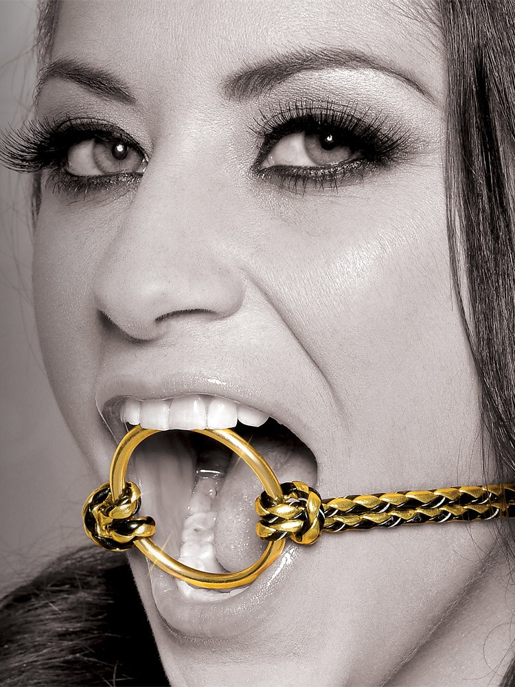 Fetish Fantasy Gold Open Mouth Gag: Ringknebel